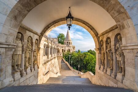 bastion: Fishermans Bastion - Budapest - Hungary Editorial