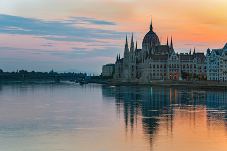 city of sunrise: Sunrise at Hungarian Parliament - Budapest - Hungary