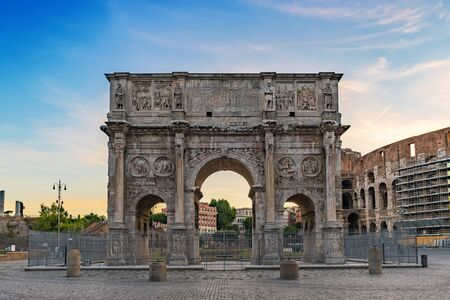 constantine: Arch of Constantine - Rome - Italy Stock Photo