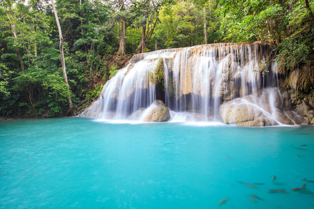 waterfall: Tropical Waterfall in deep forest