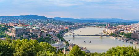 Budapest city skyline panorama - Budapest - Hungary Stock Photo