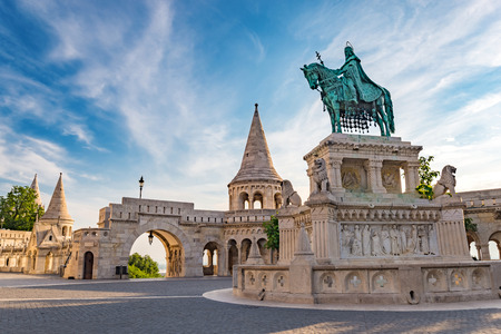 bastion: Fishermans Bastion - Budapest - Hungary Stock Photo