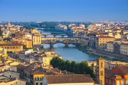 피렌체 도시의 스카이 라인 - 피렌체 - 이탈리아 스톡 콘텐츠