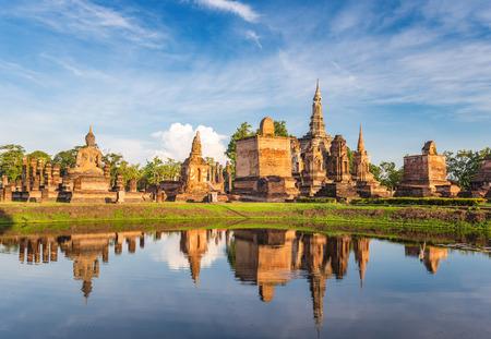 historical: Sukothai Historical Park - Thailand Stock Photo