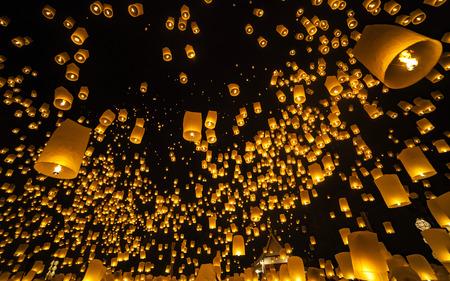 Loi Krathong and Yi Peng Festival , Chiang Mai, Thailand Standard-Bild