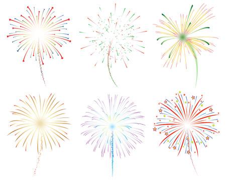 Fireworks celebration vector illustration Ilustrace