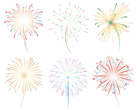 Fireworks vector illustration 版權商用圖片 - 48582337