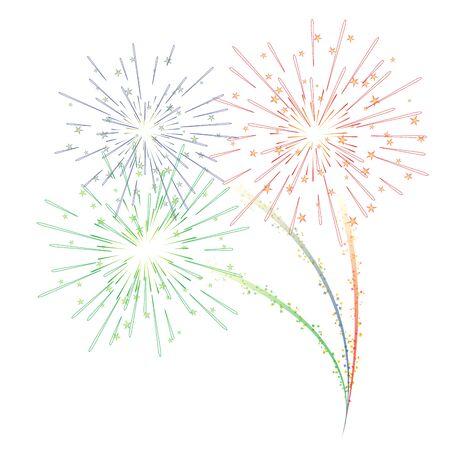 Fireworks vector illustration Imagens