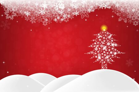 bright christmas tree: Christmas background
