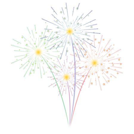Fireworks illustration Ilustração
