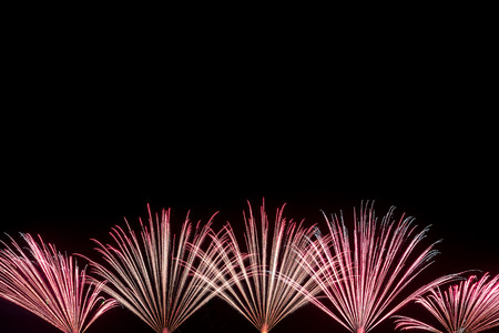 Fireworks with blank space for text