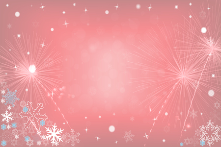 Christmas background with fireworks Imagens