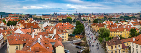 praha: Panorama of Prague city skyline  Czech Republic