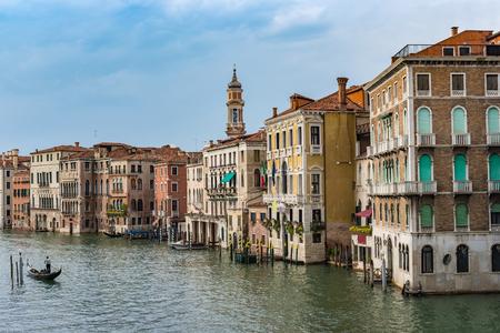 Grand Canal et les toits de la ville, Venise, Italie