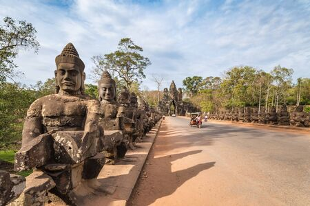 thom: South gate of Angkor Thom , Siem Reap , Cambodia