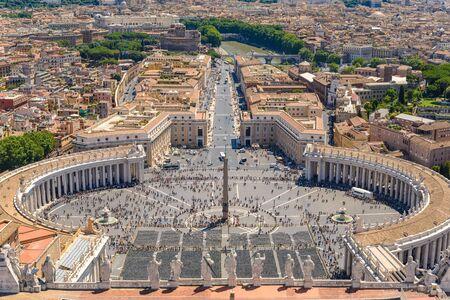 vatican: Saint Peter Square in Vatican, Rome, Italy