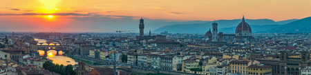 Florence panorama city skyline  when sunset, Italy Stock fotó
