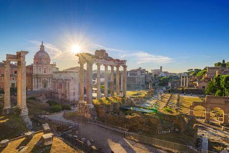 forum: Roman Forum, Rome, Italy Stock Photo