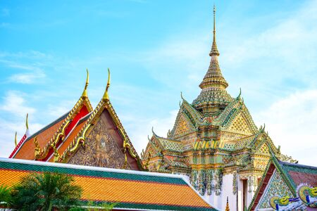 wat pho: Wat Pho Temple, Bangkok, Thailand Stock Photo