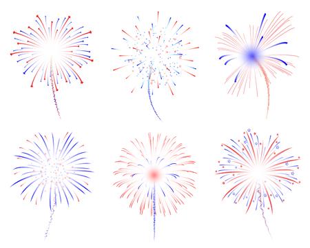 Fireworks celebration vector illustration Çizim