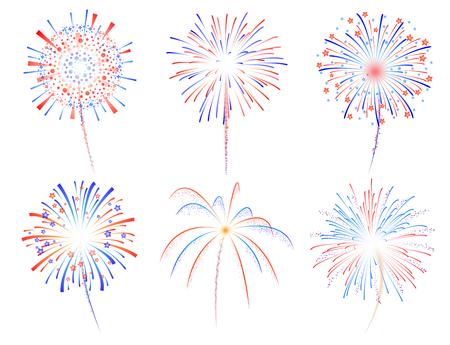 fuegos artificiales: Fuegos artificiales celebración ilustración vectorial