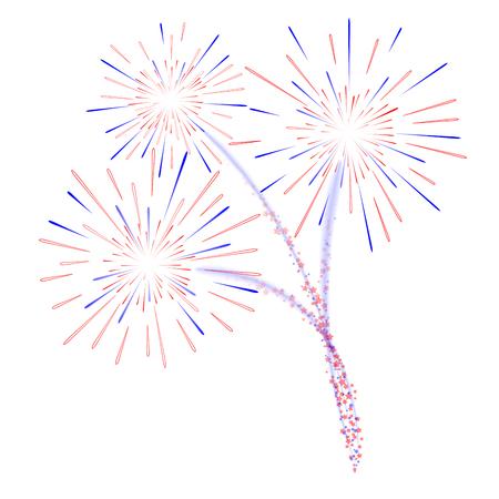 Fireworks celebration vector illustration Ilustração