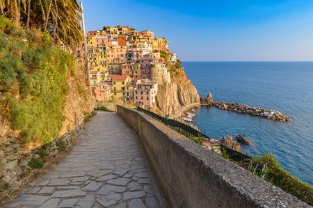 cinque: Manarola village, Cinque Terre, Italy Stock Photo