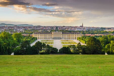 Vienna city skyline, Austria 免版税图像