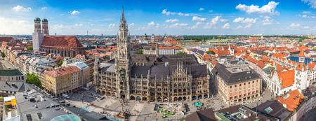 뮌헨 도시의 스카이 라인 파노라마, 독일 스톡 콘텐츠