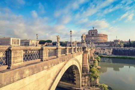 castel: Castel Sant Angelo and Rome city, Rome, Italy