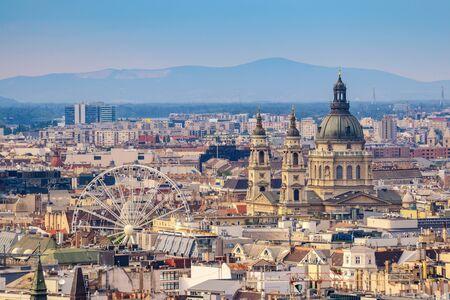 stephen: St. Stephens Basilica and Budapest city skyline, Budapest, Hungary