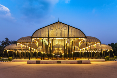 Bangalore Lalbagh Botanical Garden at night, Bangalore, India Stock Photo - 80697888