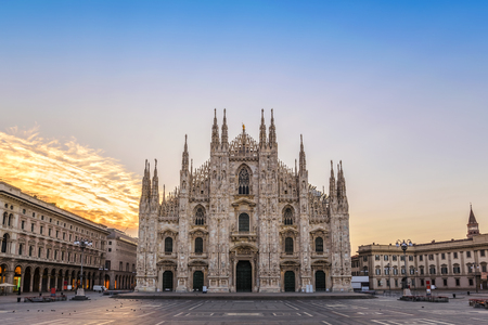 Milan Cathedral (Milan Duomo) when sunrise, Milan (Milano), Italy