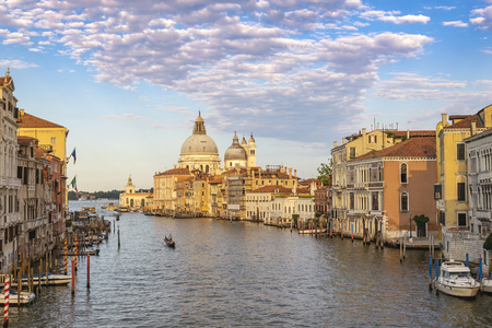 Venice Italy, city skyline at Grand Canal and Basilica di Santa Maria della Salute