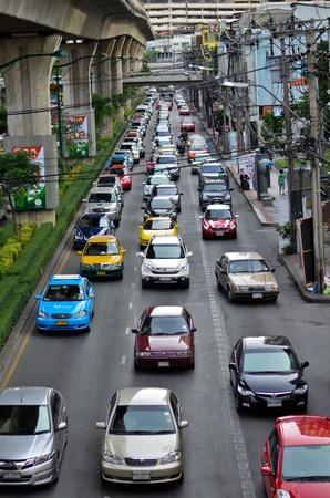 trafficjam in bangkok thailand