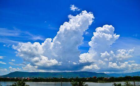 big cloud and blue sky
