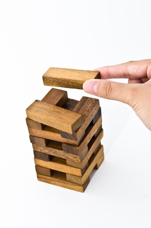 building puzzle wood