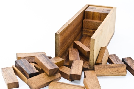 open puzzle wood photo
