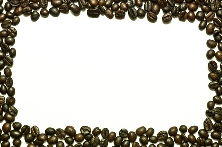coffee bean in frame  isolate