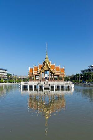 thai pavilian float in water