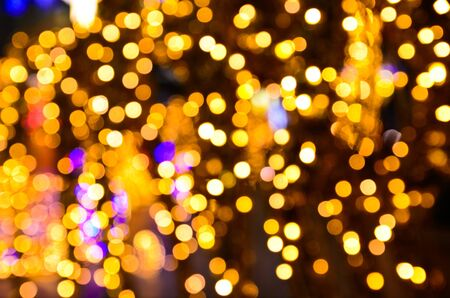 the golden bokeh at night