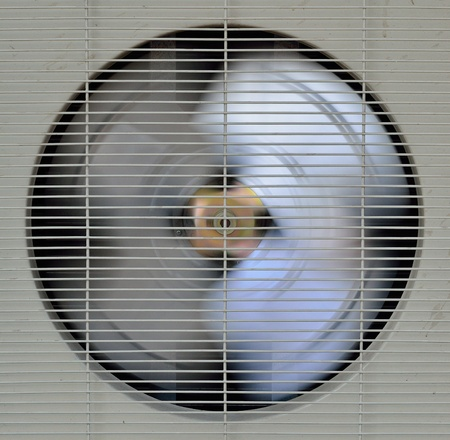 spining fan of aircompressor Stock Photo
