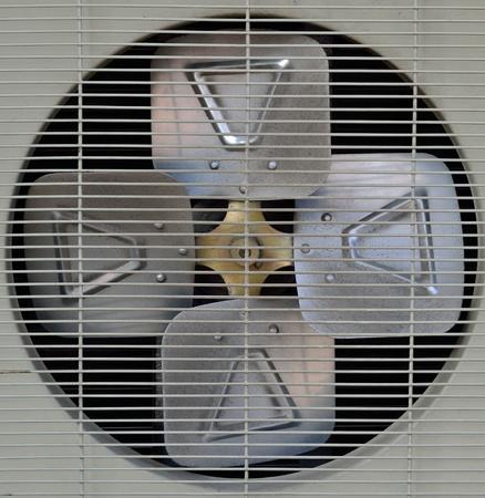 the metal  blades of aircompressor Stok Fotoğraf