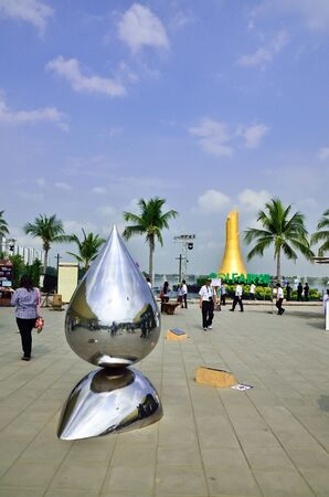 BANGKOK - JAN 10-22:BOI fair 2011 Big festival the achievements of Thai industry in the areas of technology and innovation concept Going Green for the Future , 10-22 January 2012
