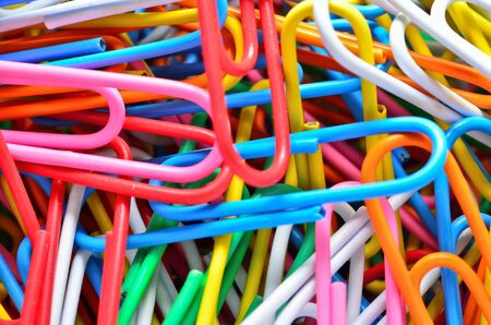 the close up of colorful cilps Stock Photo - 12151294