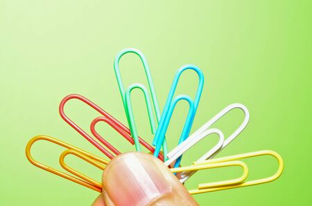 the finger holding clips Stock Photo - 12151288