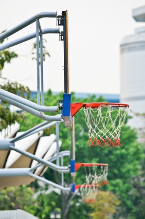 the basketball hoops outdoor stadium photo