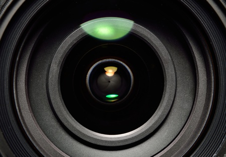 Photo lens with lens reflections close up shot Stock Photo - 12463241