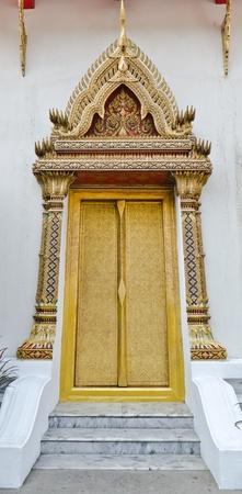 das goldene Fenster Tempel in Bangkok, Thailand