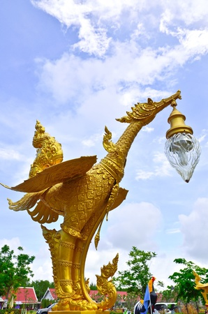 Golden Thai phoenix on altar